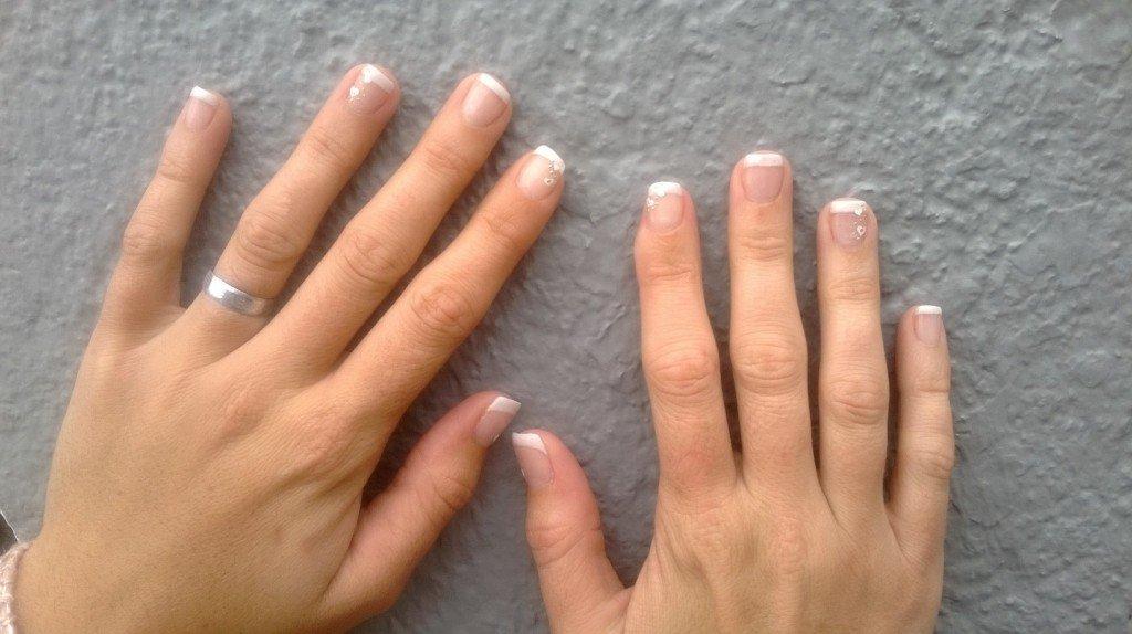 naildine 187 gel uv sur ongles naturels avec blanche et d 233 co sticker s